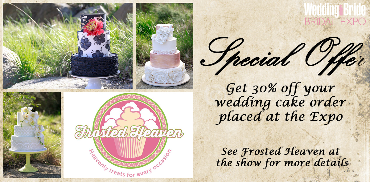Frosted Heaven Wedding Cakes Bridal Expo Special Offer